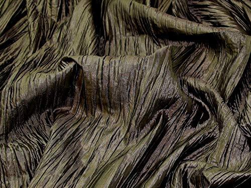 Minerva Crafts Taft-Stoff, knitterfrei, Meterware, Khaki