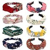 Diadema para mujer, 8 diademas de punto anchas, diadema de tela, diadema elástica, accesorios para el cabello al aire libre para niñas