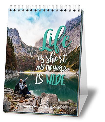 Wochen-Tischkalender 2021 mit Sprüchen im A5 Format - Jede Woche ein neues Motiv - Zum Aufstellen - von Sophies Kartenwelt