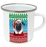 teesquare1st Christmas Pug p 10oz Tazza da Caffe Natalizia/Tazza di Natale