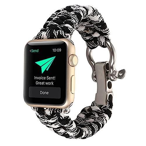 KAEGREEL Compatible con Apple Watch Band 38 mm 44 mm, Banda de Repuesto Deportiva de Nailon elástico Trenzado elástico para IWatch Series 6/5/4/3/2/1 / SE,38mm/40mm