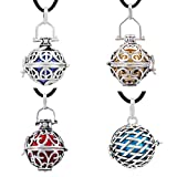 EUDORA Harmony Bola Pack of 4 Pieces Pregnancy Chime Bell Angel Chime Caller 20mm Pendant Necklace