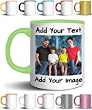 Custom Coffee Mugs - ADD YOUR NAME TEXT LETTERS or PHOTOS - Personalized Ceramic Cups with Text, Picture, Logo - Monogram Novelty Mug