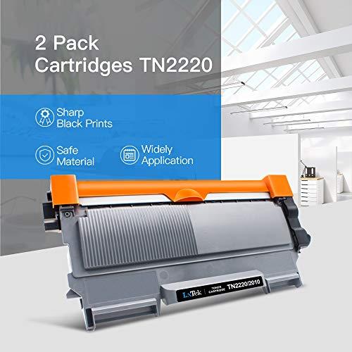 LxTek TN2220 TN2010 Compatible Reemplazo para Brother TN-2220 TN-2010 Cartuchos de tóner para MFC-7360N HL-2130 2240D 2250DN 2270DW FAX-2840 2940 2845 DCP-7060D 7055 7055W 7065DN 7070DW