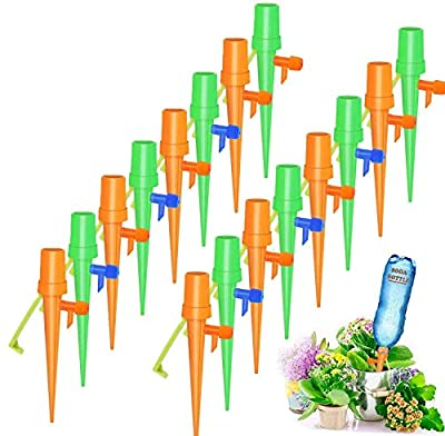 HomeMall 16 PCS Plant Self Watering Spikes System, Automatic Self Irrigation Watering Drip Devices with Slow Release Control Valve Switch for Indoor Outdoor Home and Office Flower or Vegetables from HomeMall