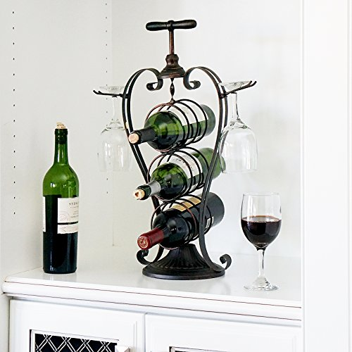 Heart Shaped Wine Bottle and Glass Holder