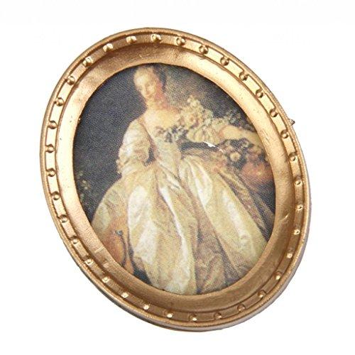 Peinture Murale Lady Cadre en Résine Miniature pour 1:12 Maison de Poupée