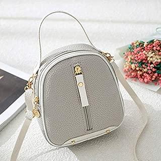 RONSHIN Women Simple Bag Litchi Texture Satchel Single Shoulder Cross-Body Casual Bag
