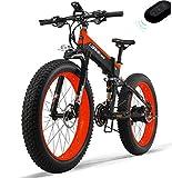 EVELO LANKELEISI 750PLUS 48v 14.5ah 1000W bicicleta eléctrica completa 26 '4.0 neumáticos grandes bicicleta eléctrica plegable dispositivo antirrobo carretilla elevadora (enviado en Polonia) rojo