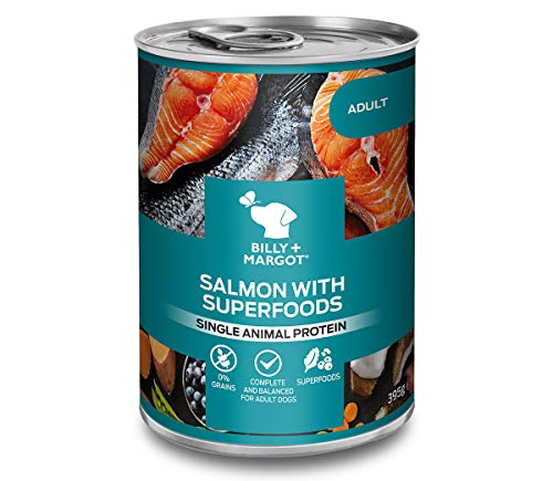 Billy & Margot Salmon with Superfoods Canned Wet Dog Food (12 x 395g), Grain-Free, Premium