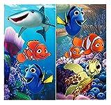 Disney Buscando a Dory - Juego de 2 toallas para niños, 35 x 65 cm, algodón, ideal como regalo, Nemo