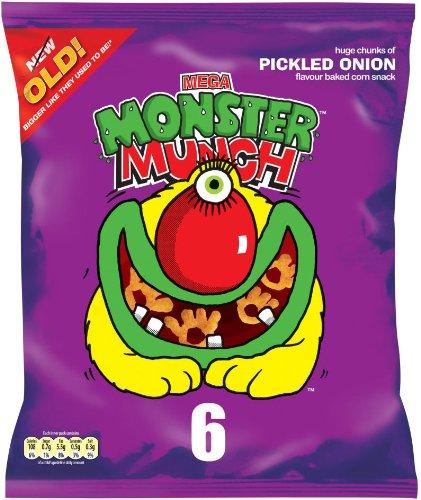 Walkers Monster Munch Pickled Onion Snacks 6 X 25G