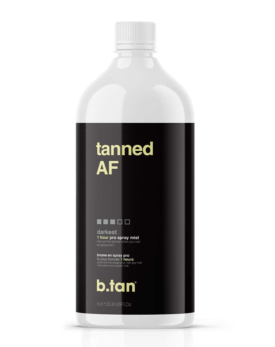 b.tan Spray Max 49% OFF Tan Solution - tanned af Darkest Pro Selling rankings Mist Sun