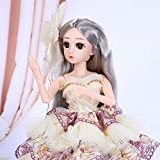 UCanaan BJD Dolls 1/4 SD Smart Doll 18 Inch 18 Ball Jointed Doll DIY Toys with Full Set Clothes Shoes Wig Makeup, Best Gift for Girls