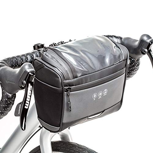 BAIGIO Borsa Manubrio Bici MTB Impermeabile Borsa Bicicletta Anteriore con Touchscreen per Telefono/Navigatore, Borsa da Manubrio Mountain Bike, 3,5L Grande Capacita Multitasche (Nero)