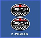 Ecoshirt G5-QLWA-UM6U Pegatinas Stickers Triumph Ref: DP245 Aufkleber Autocollants Adesivi Moto Decals, Negro, 5 cm