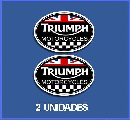 Ecoshirt G5-QLWA-UM6U Aufkleber Triumph Ref: DP245 Aufkleber Motorrad Decals, Schwarz, 5 cm