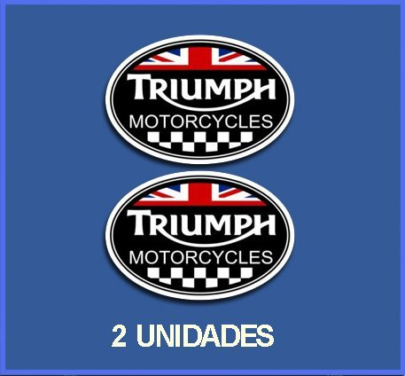 Ecoshirt G5-QLWA-UM6U Adesivi Stickers Triumph Rif: DP245 Aufkleber Autocollants Adesivi Moto Decals, Nero, 5 cm