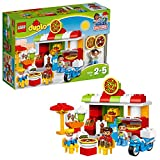LEGO 10834 DUPLO My Town Pizzeria Building Bricks Set with Delivery Bike and 3 Figures, Toy for Kids Age 2-5