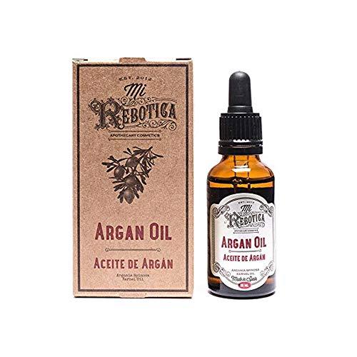 MI REBOTICA | Aceite Capilar Argán 30 ml | Vitaminas para el Cabello | Aceite para el Pelo | Aceité de Argán con Vitamina E y Antioxidantes | Hidrata, Nutre y Repara Puntas del Cabello