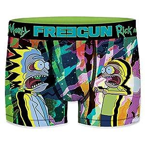 FREEGUN Rick and Morty Talla L: Boxer unitario MORTY-FREEGUN-Multicolor-92% poliéster 8% Elastano para Hombre