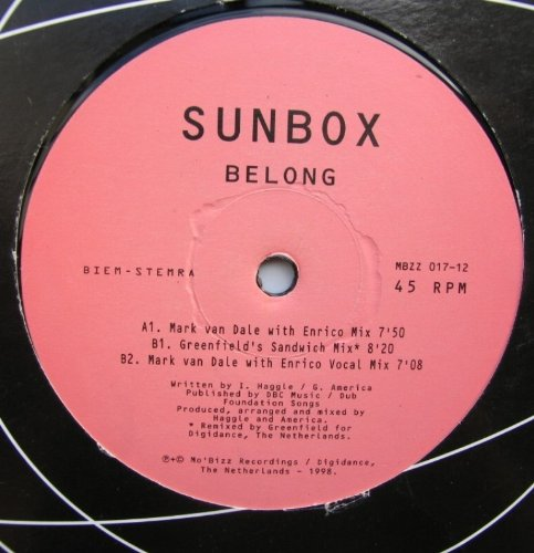 Sunbox - Belong - Mo'Bizz Recordings