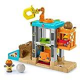 Fisher-Price Little People Aprende construcción Muñecos con accesorios de juguete, regalo para bebés +1 año (Mattel HCJ64)