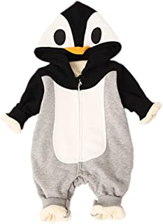 Qtemaimeng Unisex Baby Toddler's Autumn Winter Spring Snowsuit Cartoon Hoodie Bodysuit Outfit
