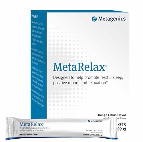 Metagenics MetaRelax® – Designed to Help Promote Restful Sleep, Positive Mood, and Relaxation* – Orange Citrus Flavor – 30 Stick-Pack Servings