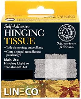 Lineco Self-Adhesive Mounting/Hinging Tissue 1 inch by 35 feet Dispenser Box
