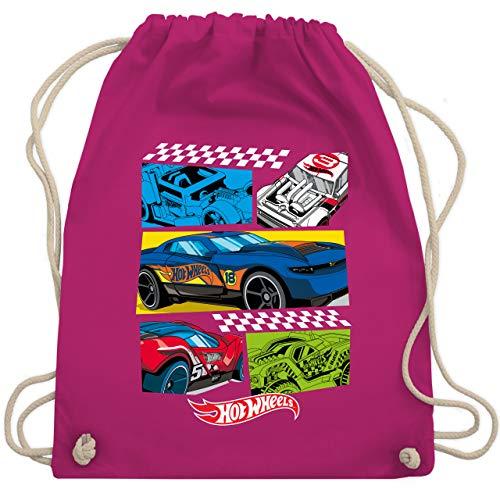 Shirtracer Hot Wheels Tasche - Comic Rennautos - Unisize - Fuchsia - Statement - WM110 - Turnbeutel und Stoffbeutel aus Baumwolle