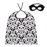 JINCAII Capa de Cosplay para Mujer Panda Blanco Negro de China Hombres Capa de Cosplay Capucha para niños / Adultos Disfraz de Disfraces para Fiesta de Halloween Festival Cumpleaños