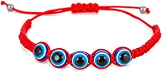 Red String Kabbalah Evil Eye Charm Bracelets for Protection and Luck Adjustable Hand-Woven Red Cord Thread Friendship Bracelet Amulet Baby Jewelry (O Style)