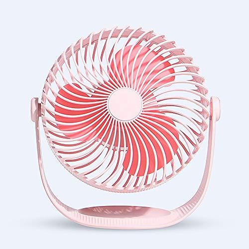 8 pulgadas Ventilador de escritorio 6.8m / s Potente circulador de aire Turbo Fan , 35dB Ventilador silencioso para dormir 3D Oscilante Ajuste inteligente 360 ° Silencioso ventilador USB portátil Pe