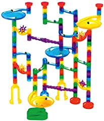 80 see-through Marble Run pieces allow you to see all the action (NEW for March 2019, this set includes 20 additional pieces and 40 additional marbles) Solid plastic pieces that stick together and are easy for kids to play with 6 solid bases includin...