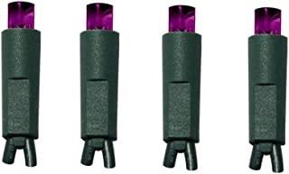 UL Listed 50 Count 5mm Led Christmas Lights,Indoor Outdoor Led String Lights for Garden Patio Trees Decorations,17Feet Green Wire,Purple Color
