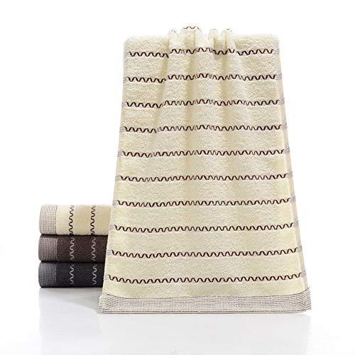 IAMZHL 1pc 34cm X 74cm Toalla de algodón Absorbente de Agua Toalla de baño Gruesa Grande Toalla de baño Ducha de Mano Toallas Home Hotel para Adultos-Cream color-1-b5