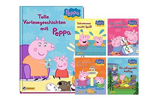 Nelson Peppa Pig: Tolle Vorlesegeschichten mit Peppa (Gebundene Ausgabe) + 4-Peppa Pig Mini Bücher
