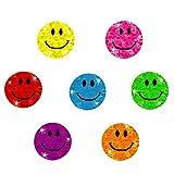 Oblique Unique - 112 x Glitzer Sticker Smile - Regenbogen Sticker für Kinder