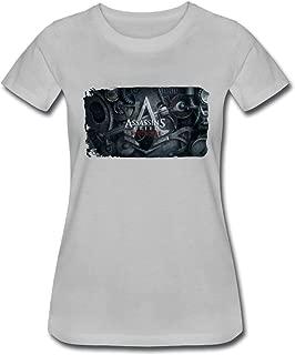 Duanfu Assassins Creed Syndicate Logo Women's Cotton Short Sleeve T-Shirt