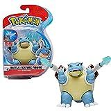 Pokémon Battle Feature Tortank (Blastoise) - Figura articulada de 12 cm de Tortank con función de lanzamisiles Torrent