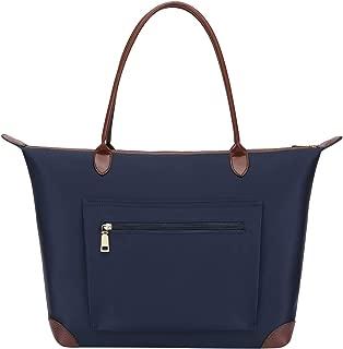 Laptop Tote Bag,Fits 15.6-17 Inch Laptop,Womens Lightweight Water Resistant Nylon Tote Bag Shoulder Bag