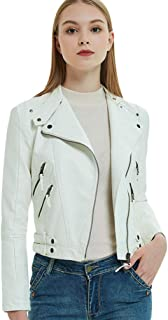 hot sale online e1921 39435 Amazon.it: giacca ecopelle - Bianco / Donna: Abbigliamento