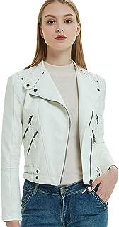 Designer-K breve Pelle Donna Gilet 44 con collo
