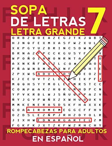 Sopa de letras en ESPAÑOL letra grande: Rompecabezas para adultos (SOPA DE LETRAS ADULTOS)