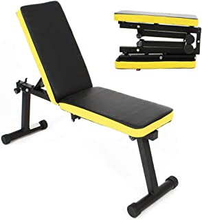 soges Folding Dumbbell Bench Height Adjustable Incline Exercise Bench 660 lbs Weight Capacity, Multi-Functional Home Gym Strength Training Fitness Workout Station, PSBB003