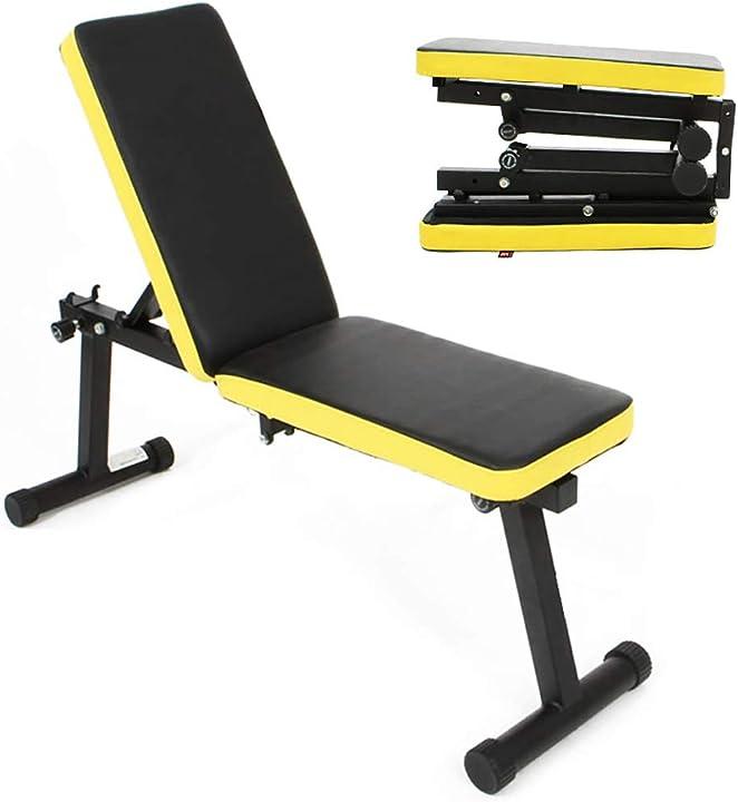Panca fitness multiuso per allenamento da casa -regolabile - ripiegabile - SH-PSBB003