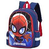 LQ-ZHUOJIAO Mochila De Spiderman para Niños Mochilas De Lona Ligera Mochila De Superhéroe para Niñas Mochila Escolar para Niños Mochila Al Aire,Red-S 25 * 36 * 13cm