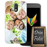 MOBILEFOX Coque de protection en silicone TPU transparent avec photo personnalisable - Épaisseur :...