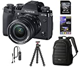 Fujifilm X-T3 Mirrorless Digital Camera with XF 18-55mm Lens, Black, Bundle with 256GB SD Card + Lowepro Backpack + Joby GorillaPod 3K Kit RR-100 Remote Release + LCD Monitor Protector